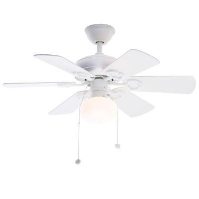 Hampton Bay Ceiling Fan Light Bulb Replacement Hampton Bay Minuet Iii 36 Inwhite Ceiling Fan  White Ceiling Fan