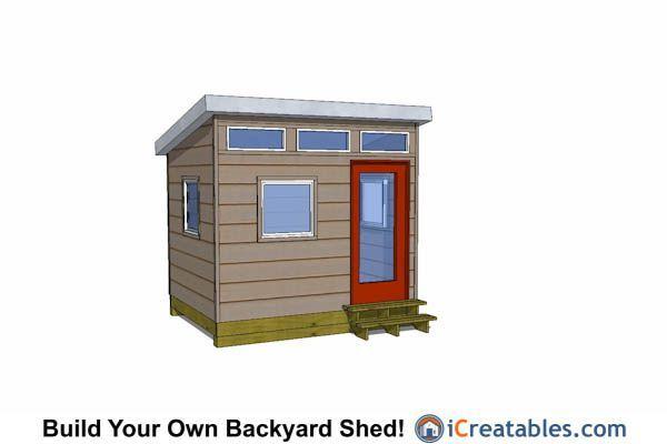10x10 modern studio shed plans 10x10 Shed Plans Pinterest