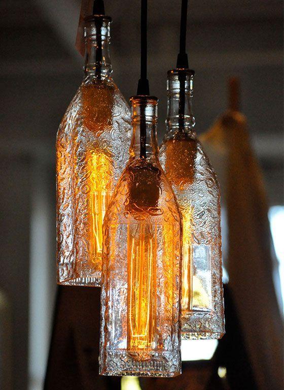10 Diy Bottle Light Ideas Pretty Designs Diy Bottle Lamp Bottle Lights Bottle Lamp