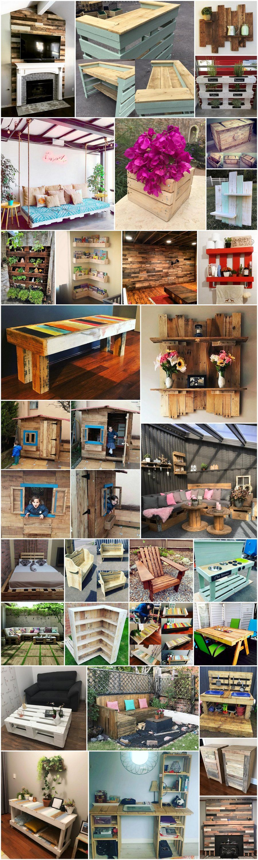 Pallets Wooden Made Creative Ideas