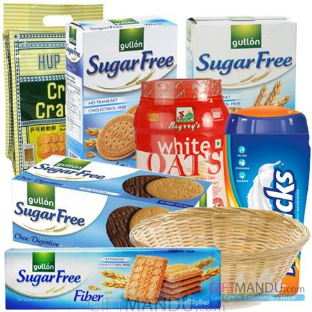 Sugar free gift basket biscuits cookies crackers oats and sugar free gift basket biscuits cookies crackers oats and horlicks 7 negle Gallery