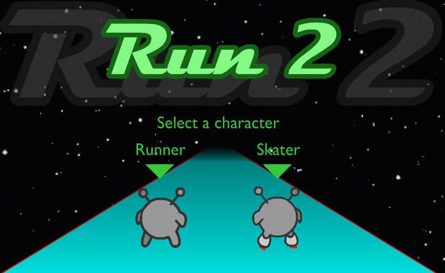 Choose your runner or skater and start going through