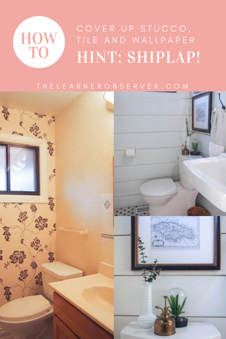 How To Cover Old Bathroom Wall Tiles And Other Fix Ups On A Budget Family Life With The Mom Who Is All H Bathroom Wall Tile Old Home Renovation Old Bathrooms
