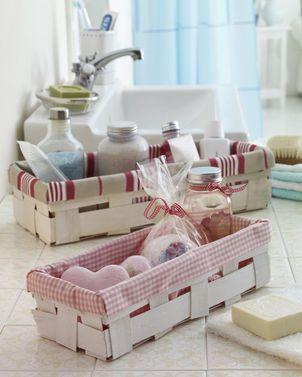 bad deko selber machen k rbchen n hideen und basteln. Black Bedroom Furniture Sets. Home Design Ideas
