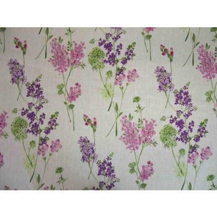 Curtain Fabric French Lavender Linen Fabric French Fabric Lavender Linens Lavender Curtains French Fabric