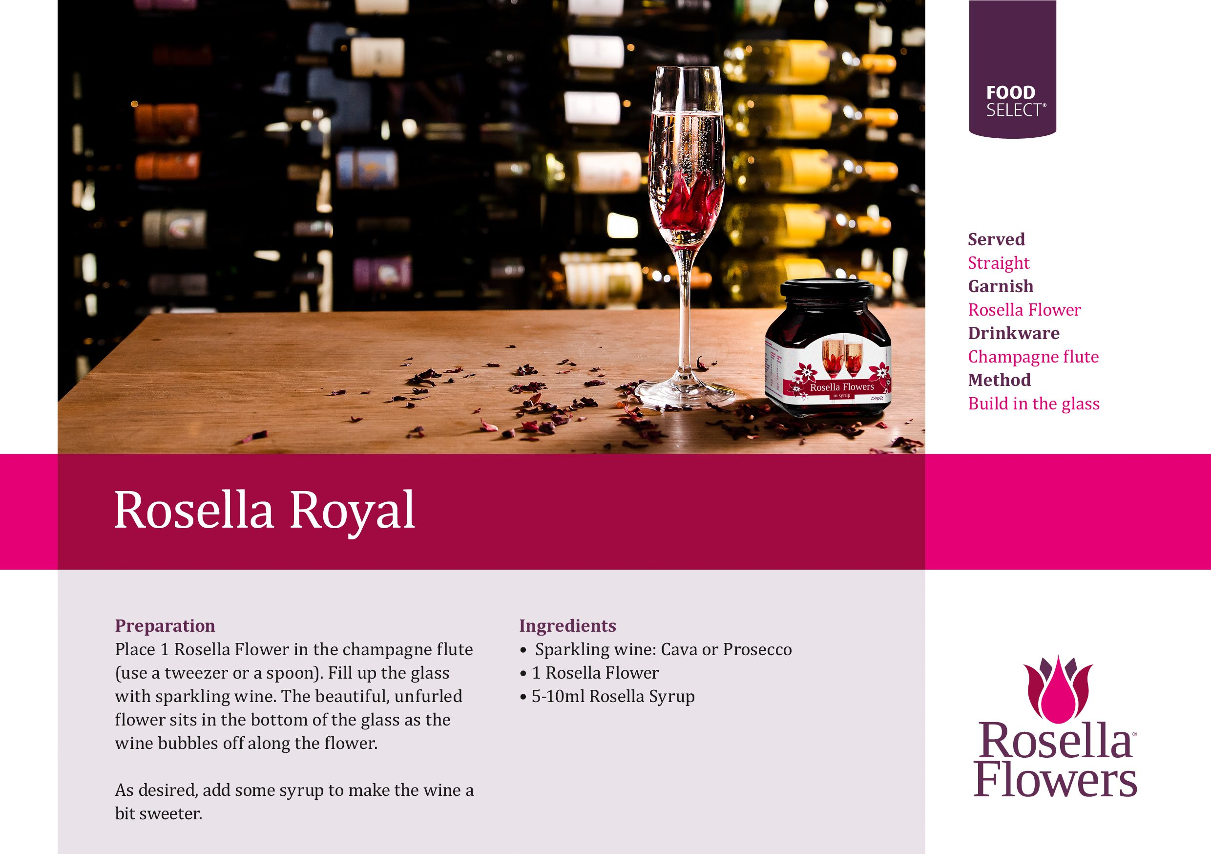 The Original Rosella Royal With Sparkling Wine