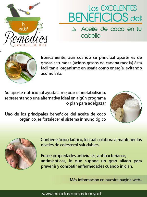 Conoce Los Beneficios Del Aceite De Coco Para Tu Cabello Beneficios Del Aceite De Coco Remedios Remedios Para La Salud