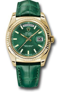 c472390aab6 Rolex Watches: Day-Date President Yellow Gold - Fluted Bezel - Leather  118138 grl