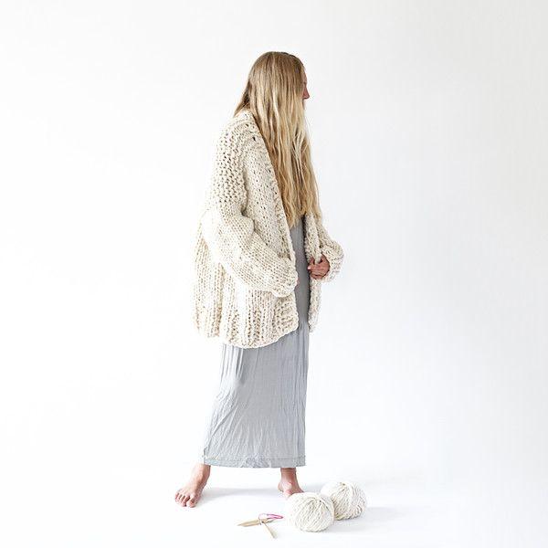 Cardigan di lana - DIY Strick-Kit Cardigan - un prodotto unico di lebenslustiger-com su DaWanda