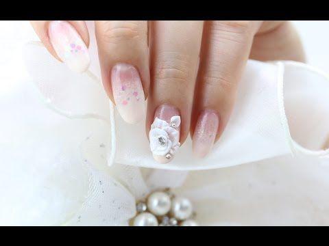 [미대의 네일컬렉션] 73화_엠보 웨딩네일아트/Wedding Nail Art/nailcollection by midae - YouTube