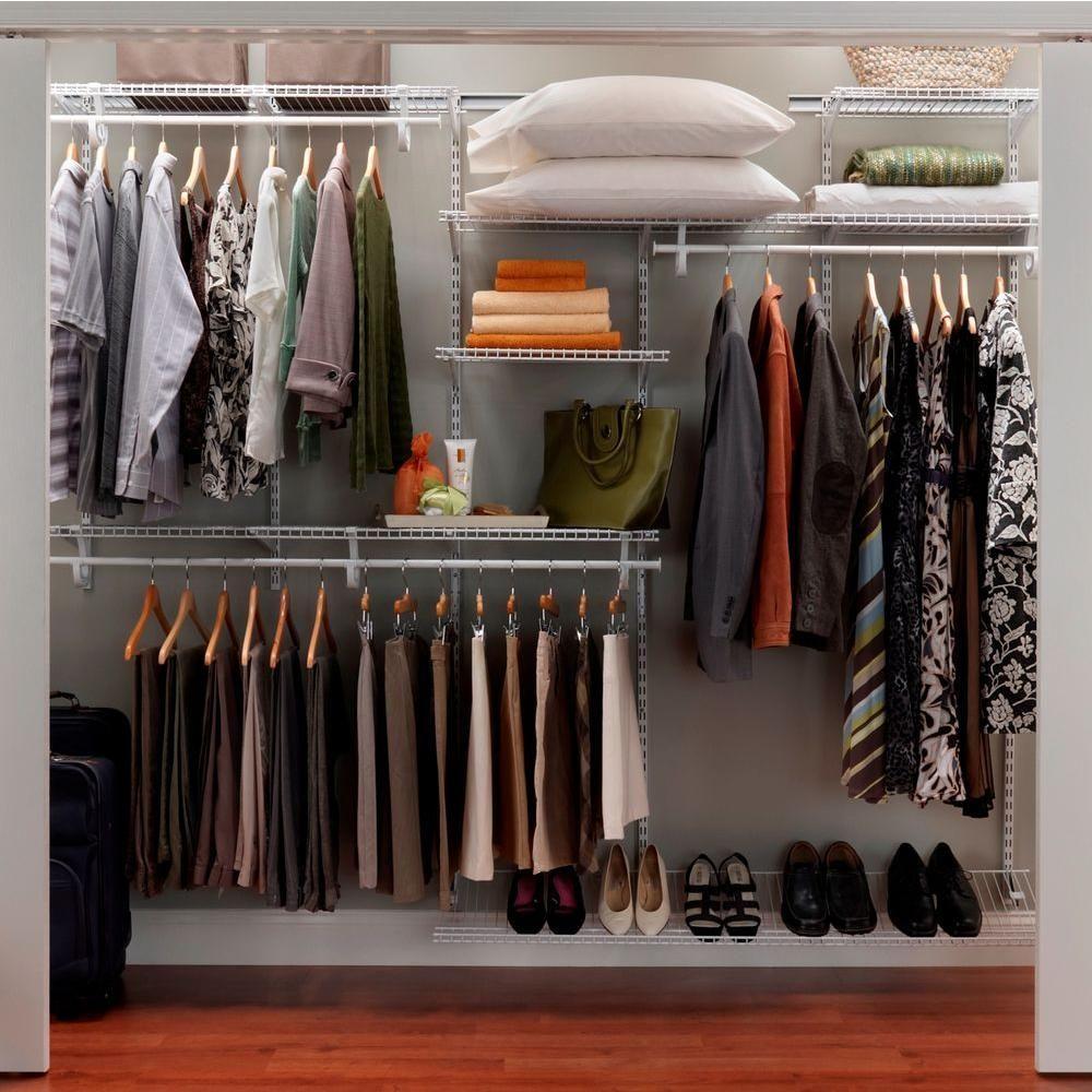 ClosetMaid ShelfTrack 7 Ft.   10 Ft. White Closet Organizer Kit 2891 At