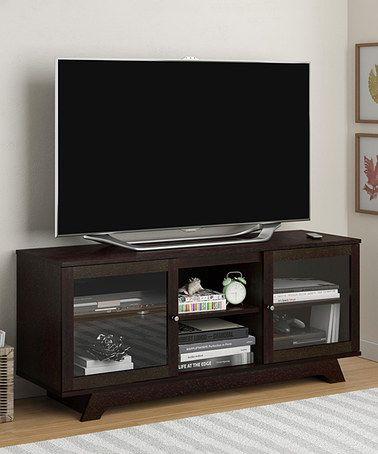 Another Great Find On Zulily Cinnamon Cherry Transitional Tv Stand Zulilyfinds Modern Corner Tv Stand Tv Stand Decor Wooden Tv Stands