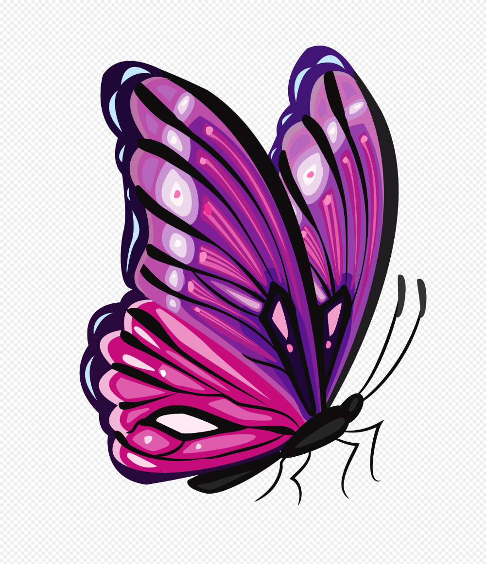 Butterfly Clipart Png Purple Butterfly Clip Art 2796 3251 Png Download Free Transparent Background Butte Butterfly Art Butterfly Drawing Purple Butterfly