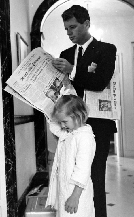 Bobby Kennedy and daughter Kerry