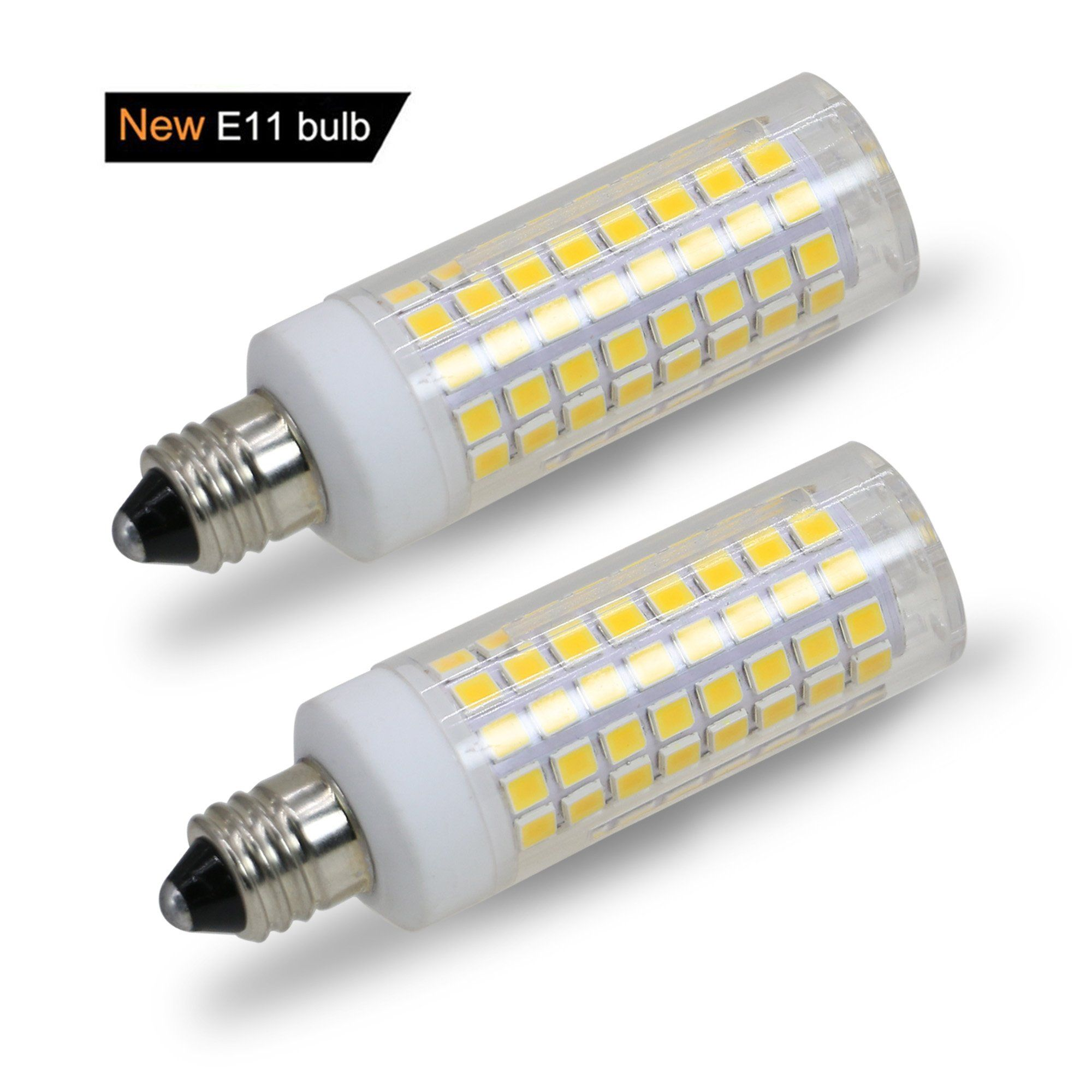 E11 Led Bulb 75w Or 100w Equivalent Halogen Replacement Lights Dimmable Mini Candelabra Base 850 Lumens Warm White 3000k Ac110v 120v 1 Led Bulb Light Bulb Bulb