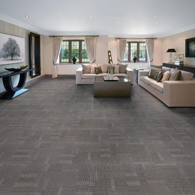 eurotile park avenue steel 197 in x 197 in carpet tile 20 piece