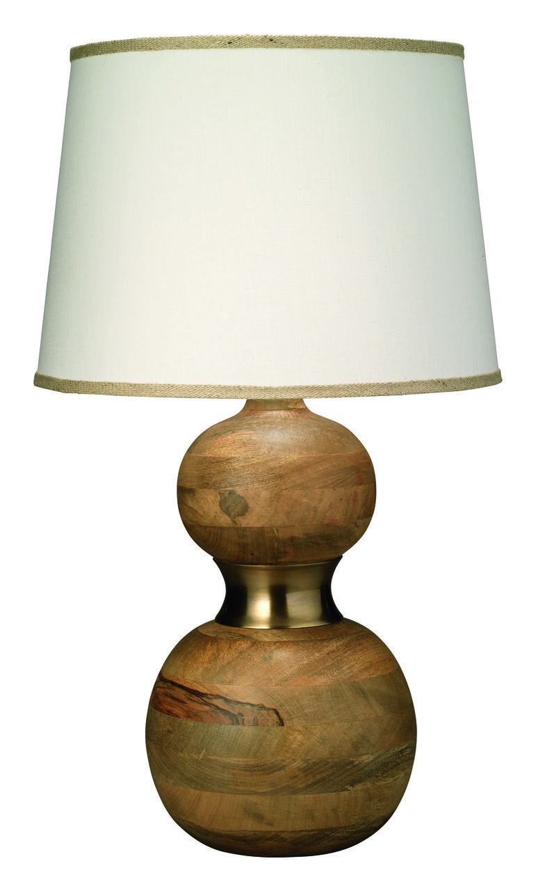 This Jamie Young Company Table Lamp Features A Warm Wood Base With Natural Grain Details