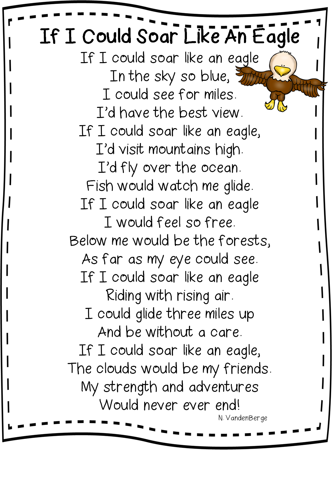 Poem If I Could Soar Like An Eagle Free From First