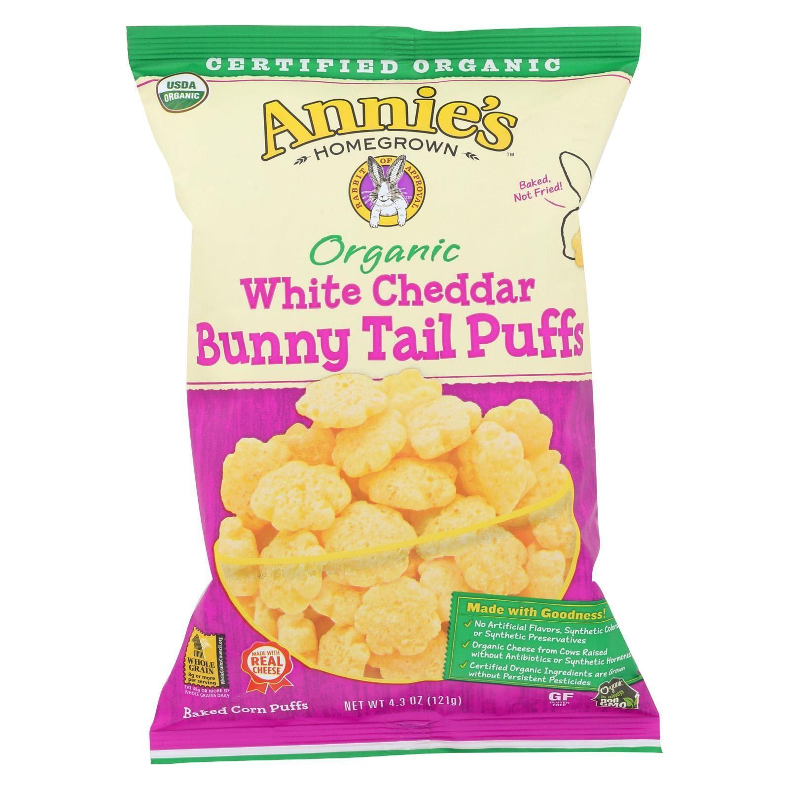 Annie's Homegrown Organic Cheese Puffs White Cheddar