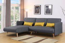 L Shaped Corner Chaise Sofa Grey Charcoal Fabric Modern 3 Seater Sofa Bed Fabric Sofa Bed Corner Sofa Bed Sofa