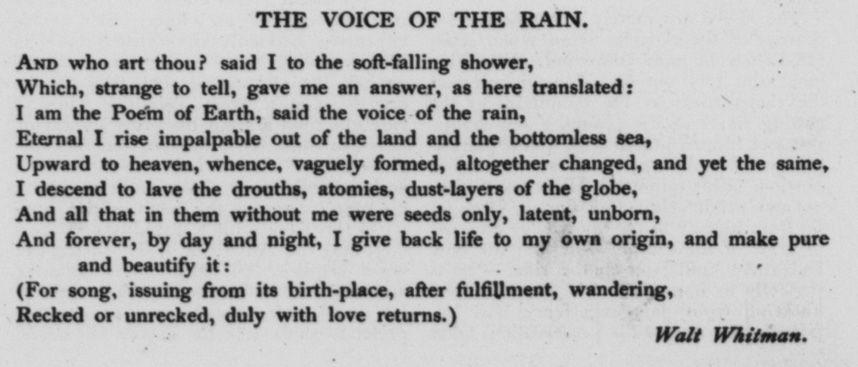 whitman short poems