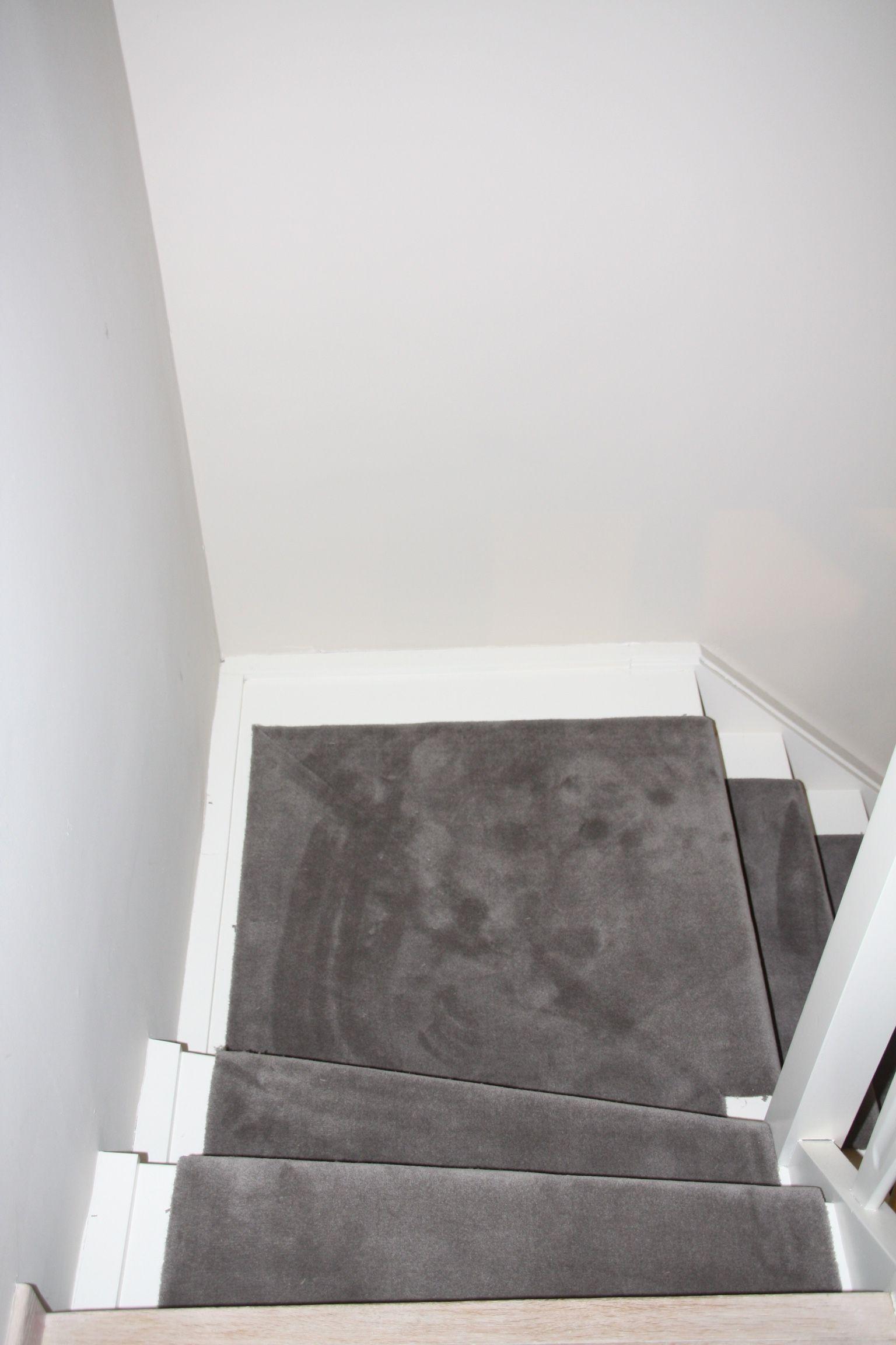 Trapbekleding Vloerbekleding Verstrepen Grijs tapijt