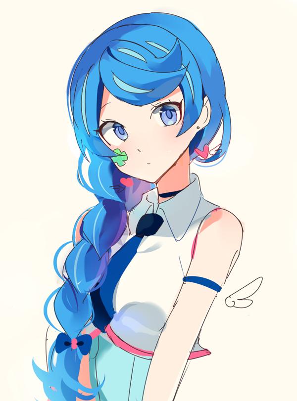 Blue Hair Black Anime Characters Afro Hair Drawing Manga Hair