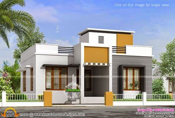 850 Sq Ft Flat Roof One Floor Home Flat Roof House Single Floor House Design Kerala House Design