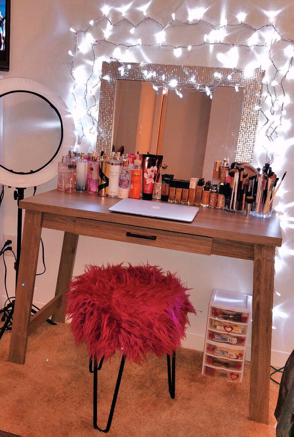 Diy Makeup Vanity By Nisha Lovee Diy Vanity Table Diy Makeup Vanity Makeup Table Vanity