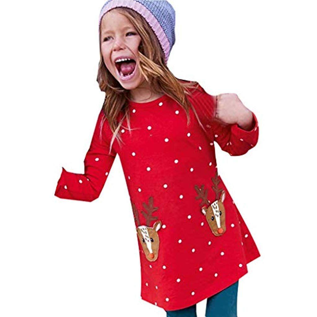 weihnachtskleidung baby kinder mädchen rentier