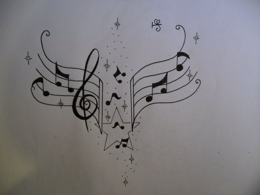 music notes tattoo design by tattoosuzette.deviantart.com #musicnotes