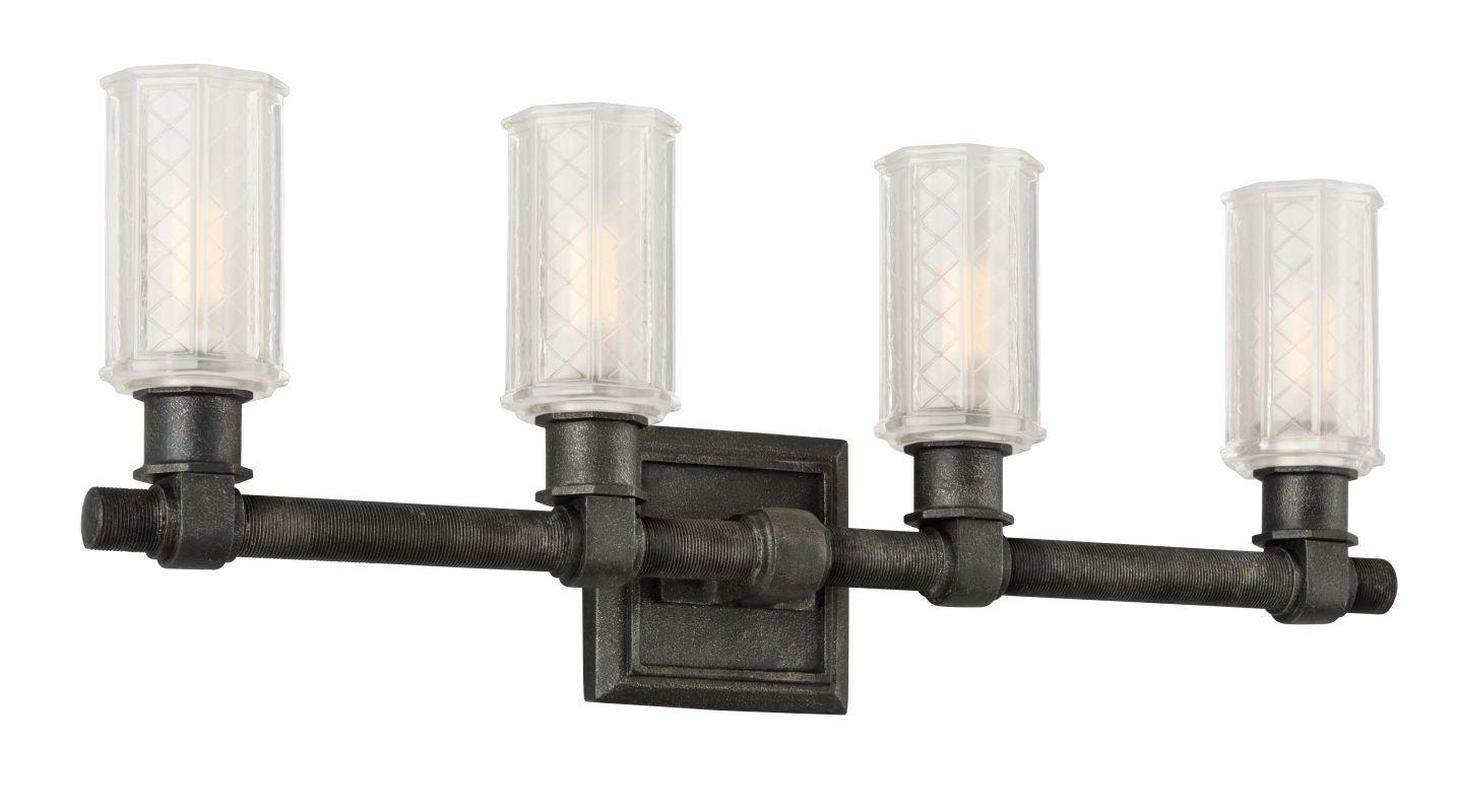 Ada compliant bathroom fixtures - Troy Lighting B4234 Vault 4 Light Ada Compliant Bathroom Vanity Light Fixture Aged Pewter Indoor Lighting
