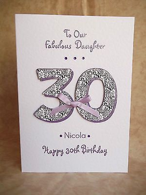 Handmade Personalised Female18 21 30 40 50 Birthday Card Daughter Sister Friend In Crafts Card 30th Birthday Cards 50th Birthday Cards Birthday Cards For Women