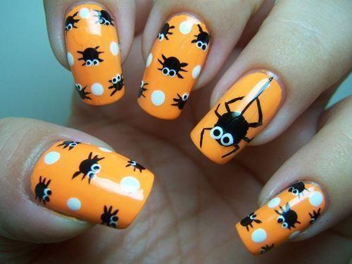 50 Cool Halloween Nail Art Ideas - 50 Cool Halloween Nail Art Ideas Colourful Nails And Nail Nail