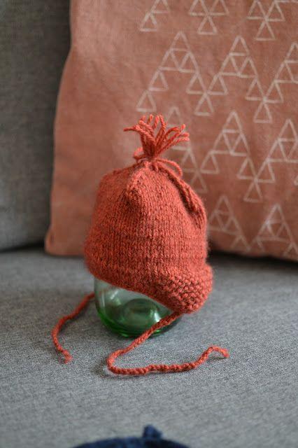 kostenlose Anleitung Babymütze stricken mit Ohrenklappen | Stricken ...