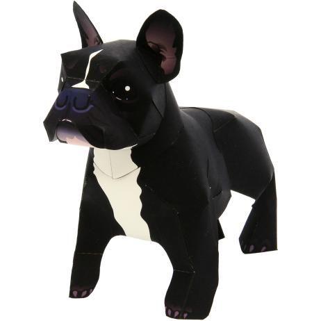 French Bulldog,Animals,Paper Craft,Mammals ,Animals,dog,Paper Craft,Pet series,easy