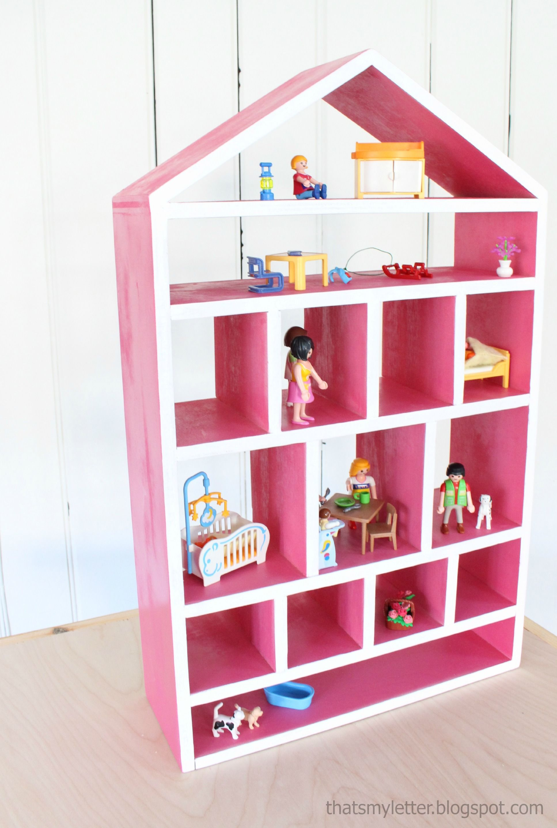 Build a Dollhouse Wall Shelf Free and Easy DIY Project
