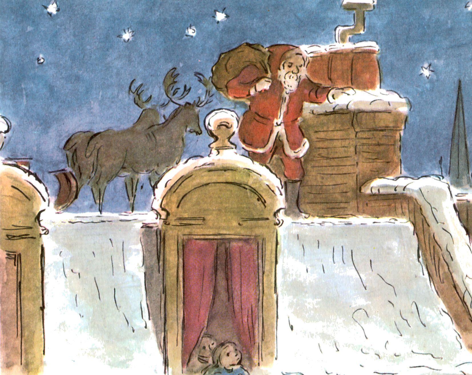 Madeline S Memories Vintage Christmas Cards: Santa Claus - EDWARD ARDIZZONE