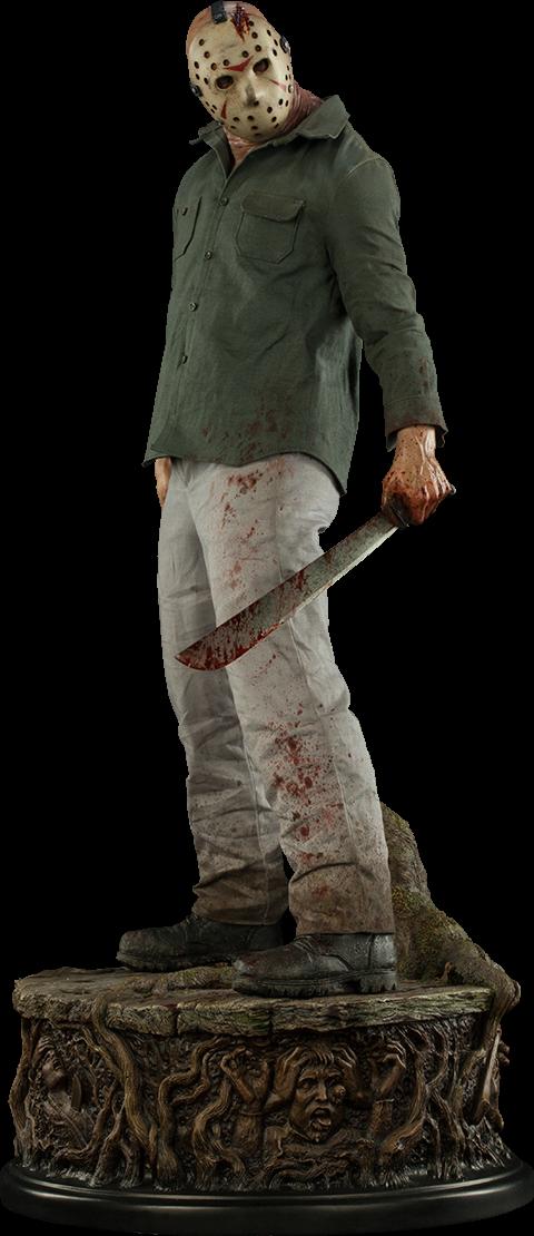 Friday The 13th Jason Voorhees Legend Of Crystal Lake Prem Sideshow Collectibles Esculturas Jason Voorhees Figura De Ação