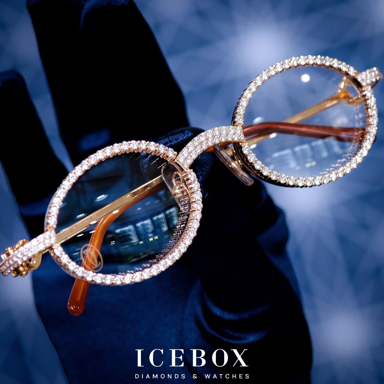 50d8984e500c7 Customized Diamond Cartier Glasses Shop Now at www.icebox.com ...