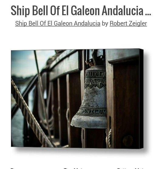 Ship Bell of Galeon Andalucia CANVAS