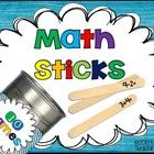Photo of Math Sticks!  Ten Engaging Games for K-2