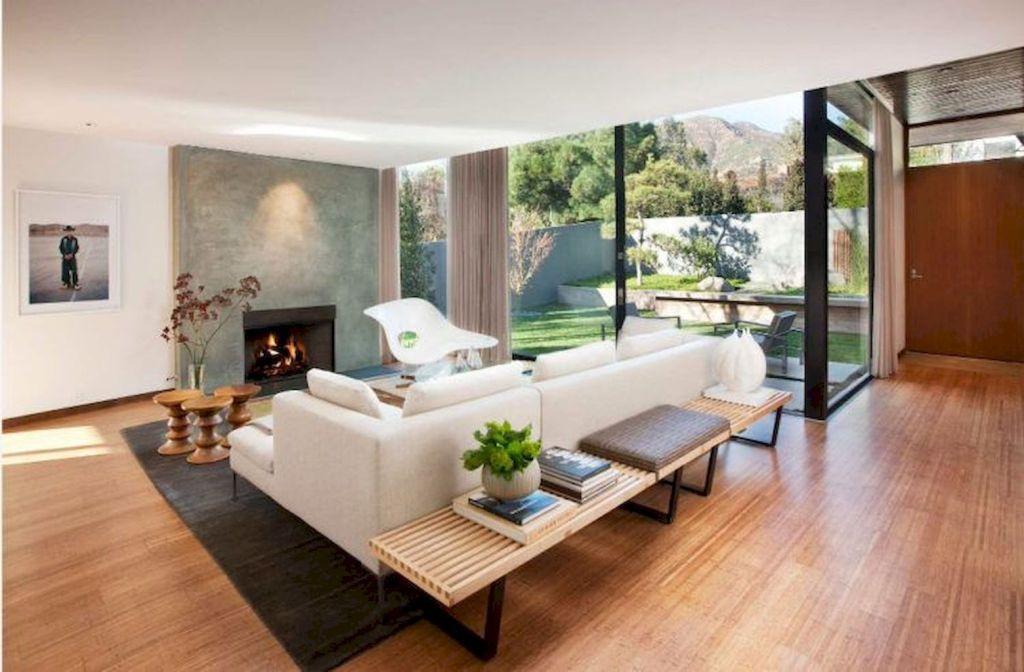 45 rustic modern farmhouse living room decor ideas with