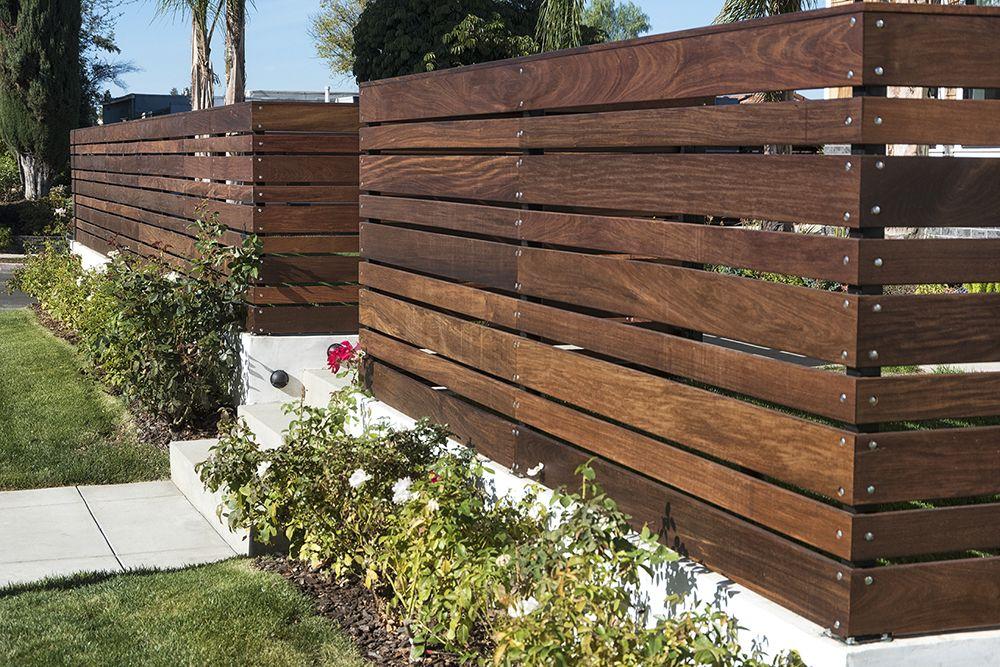 Home Modern Fence Design Ipe Wood Fence Design