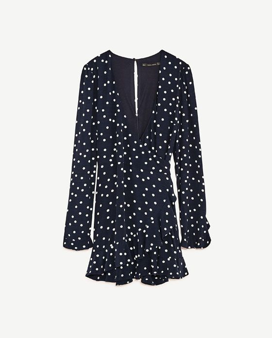 47e3f281379 Image 8 of POLKA DOT JUMPSUIT DRESS from Zara