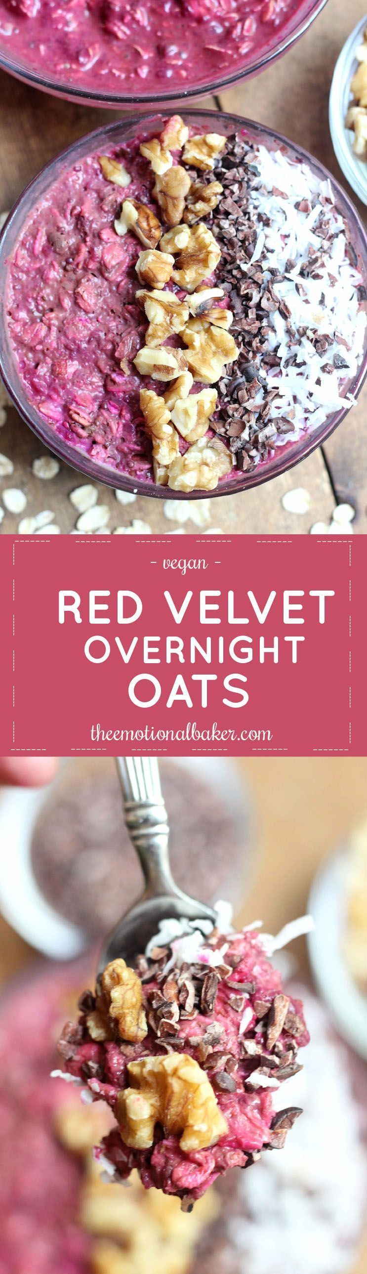 Start your day with easy and nutritious Red Velvet Overnight Oats. These feature beets and chia seeds for an energy boost!