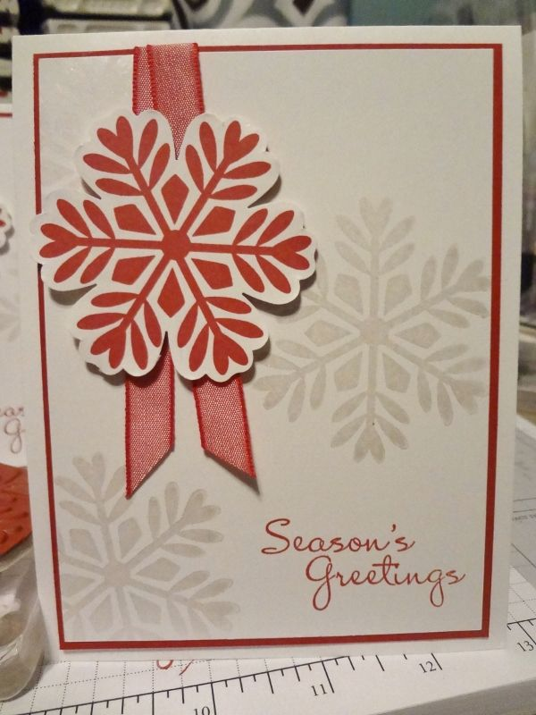 Beths Paper Cuts Single Snowflake Cards Pinterest Cards