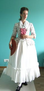 The Shadow of My Hand: Flower print jacket and a take on 18th century styling