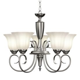 5 Light Brushed Nickel Chandelier Lowes 98 Kitchen Table