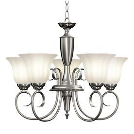 5-Light Brushed Nickel Chandelier (lowes $98) | Home Updates ...:5-Light Brushed Nickel Chandelier (lowes $98),Lighting